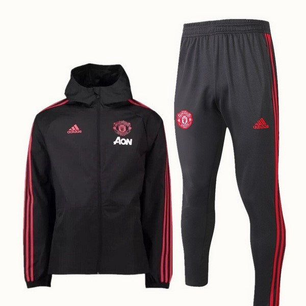 Rompevientos Manchester United Conjunto Completo 2018-19 Negro
