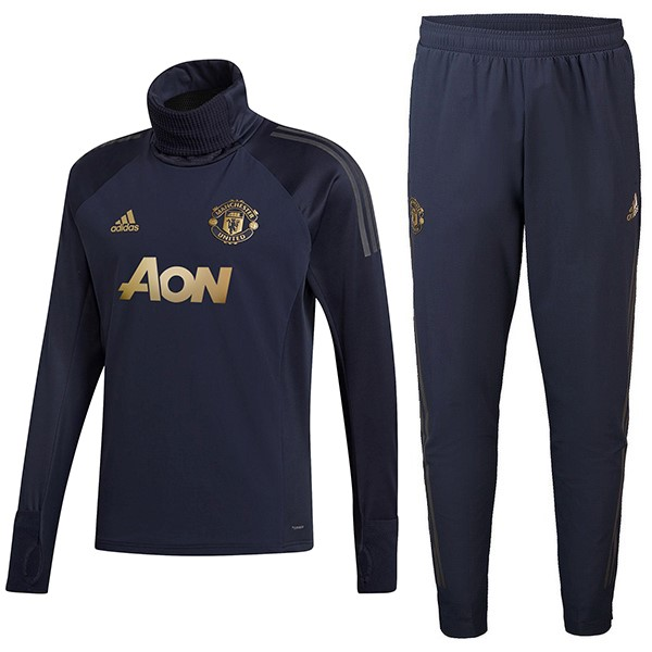 Chandal Niños Manchester United 2018-19 Azul Oro