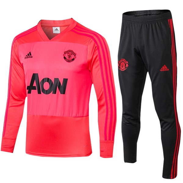 Chandal Manchester United 2018-19 Rojo Claro Negro