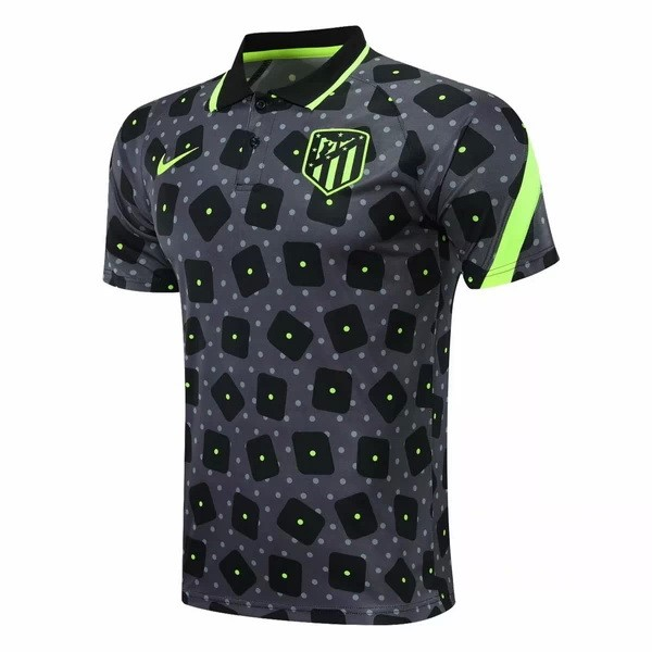 Polo Atletico Madrid 2020-21 Negro Gris